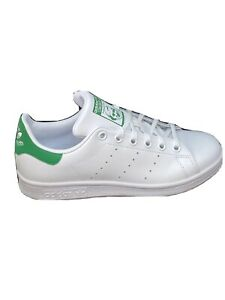 NEW ADIDAS STAN SMITH WHITE AND GREEN TRAINERS UK SIZE 3.5