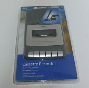 RCA Cassette Recorder And Player  RP3505 NIB. Stand Up Mic And Adapter Included