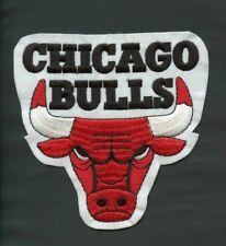 "NBA CHICAGO BULLS Logo Emblem Embrodiered Cotton Mini Patch 4"" x 5"""