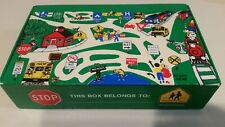 Vintage General Box Co School Pencil Box Road Maps Street Signs Made In USA