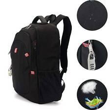 "17.3"" Laptop Backpack USB Waterproof Anti-Theft Business Travel School Rucksack"