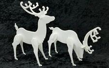 Decorative Acrylic Deer Standing - 2 Pack Christmas Reindeer Display - Tabletop