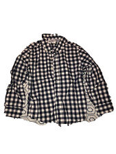 Boy's Navy Blue & White Plaid Button Down Shirt From Old Navy, Size Xs