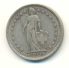 Switzerland Silver 2 Francs 1894 A VF