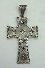 Navajo Sterling Silver Cross Pendant 17 Grams, Native American Circle Of Life