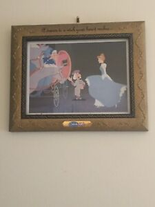 DISNEY Cinderella A Dream Is A Wish Your Heart MakesGold Framed Lithograph Print