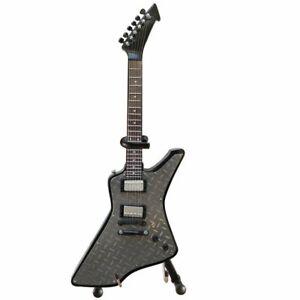 James Hetfield Metallica Diamond Plate Mini Guitar Replica Explorer Axe Heaven