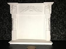 Mn02 Cherub Fire Surround & Hearth Gesso-replicast Miniatures-Dolls House