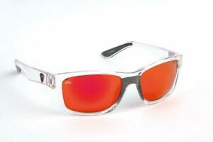 Fox Rage Eyewear Trans Clear - Grey Mirror Red Lenses / Polarised Sunglasses