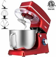 VIVOHOME 660W 7.5 QT Electric Tilt-Head Stand Mixer Dough Beater Stainless Bowl