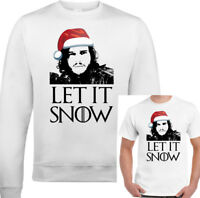 Xmas Let It Snow Mens Funny Game Of Thrones Sweatshirt T-Shirt Ugly Jumper Xmas