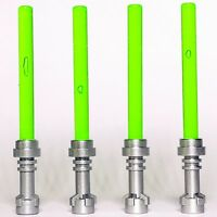 4 x STAR WARS lego TRANSLUCENT BRIGHT GREEN LIGHTSABERS jedi sith WEAPONS new
