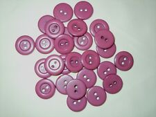 "Vintage lot of 20 Buttons  Rose Color Buttons 15 mm (5/8"")"