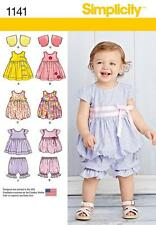 SIMPLICITY SEWING PATTERN BABIES DRESS JUMPER TOP PANALOONS BOLERO 1141