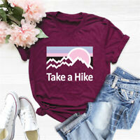 Women's Take a Hike Sunshine Cotton Blouse Funny Top Letters Hipster Tee T-Shirt