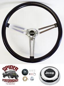 """1959-1963 Jeep CJ3 CJ5 CJ6 steering wheel 15"""" MUSCLE  CAR"""