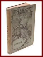 libro illustrato di geografia dell'Italia Firenze 1894 con pianta della città