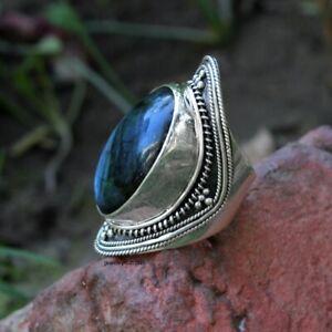 Labradorite Gemstone Ring  925 Sterling Silver Ring Labradorite Handmade Ring