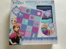 """Disney """"Frozen"""" Knotting Activity Fleece Quilt Kit with Adhesive Patches Nip"""