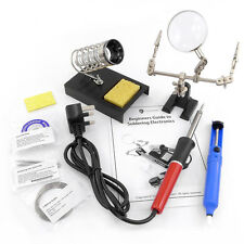 9 Piece 40w Soldering Iron Kit, Helping Hands, Desolder, Stand & Accessories