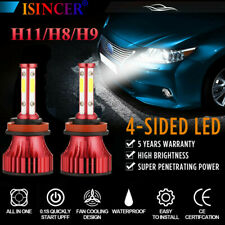 1800W 4-Sides H11 H8 H9 LED Headlight Bulbs Kits 300000LM High Power 6000K EI