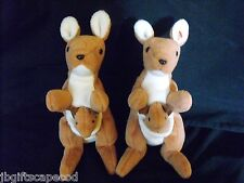 2 Lot - POUCH BEANIE BABIES - ONE PE ONE PVC - 1996 - ABSOLUTELY ADORABLE - LQQK