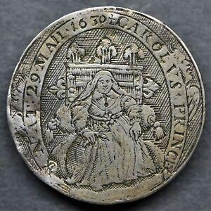A 17TH CENTURY SILVER GAMBLING COUNTER. SIMON VAN DE PASSE. BIRTH OF CHARLES II.