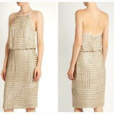 $898 NWT Diane Von Furstenberg Samala Embellished Silk Dress Size 14