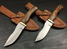 """Ash jj7p set of 2 handmade hunting skinner knife 440c steel 8"""""""