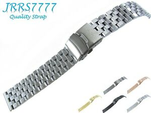 24mm Watch Bracelet Stainless Steel Silver Brushed Titanium Super Engineer II