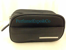 CHRISTIAN DIOR Black Toiletry Toothbush / Makeup / Travel BAG for MEN or WOMEN
