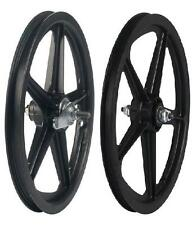 "16"" Skyway Tuff Wheel 2 Mag WHEEL SET 16"" Coaster Brake Mag BMX Wheels Black set"