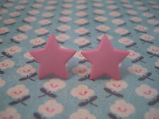 Funky Rosa Star Aretes Cute Kitsch Retro 60s 70s 80s Boho Vintage Goth Rock