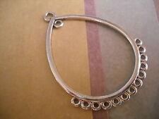10 Chandelier Earring Findings Antiqued Silver Drop Pendants Eardrop Connectors