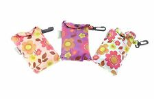 Floral Design Eco Fold Up Shopping Bag For Life In Pouch - ONE AT RANDOM
