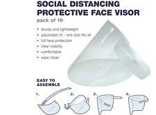 Corona Social Distancing - Protective Face Visors - 10 pack