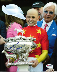 MIKE SMITH AUTOGRAPHED 8X10 PHOTO PICTURE TRIPLE CROWN JUSTIFY PSA/DNA COA