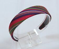 Women's Colorful Aztec Tribal Print Fabric Covered Headband Hair Accessory D