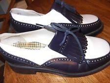 vtg 80s ESPRIT womens shoes navy/white OXFORDS size 9 ec