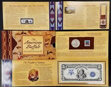 2001 American Buffalo Coin and Currency Set! Coin, stamp and 1899 $5.00 print!