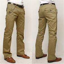 Stylish Mens Cargo Military Long Pants Slim Fit Combat Camo Work Cotton Trousers
