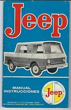 Manual de instrucciones JEEP SV 1.966 impecable.