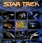 STAR TREK SPACESHIPS IMPERF STAMPS 2000 HOLOGRAM FAUX ISSUE SCI-FI SPACE #2