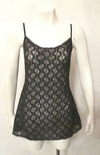 VS Victoria's Secret Chemise BabyDoll Nightie Slip Nightgown Cami Black Lace M