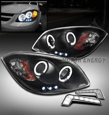 05-10 CHEVY COBALT CCFL HALO LED BLACK PROJECTOR HEADLIGHT LAMP +BUMPER DRL KIT