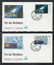 G-001) Germany 1999 First Day Cover  -  Welfare: The Cosmos of 5 beautiful FDC