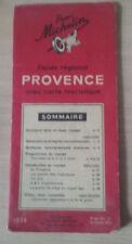 Guide Michelin Régional Provence, 1938, WW2.