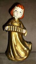 Vintage Christmas Hand-Painted Golden Angel Rotating Music Box - Silent Night