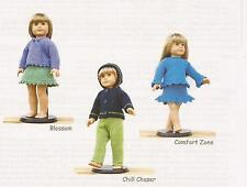"18"" Doll Sweaters Collection 3 - Chris de Longpre KNITTING PATTERN American Girl"