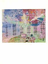 "1970 Vintage RAOUL DUFY /""THE ROYAL YACHT CLUB AT COWES/"" COLOR offset Lithograph"